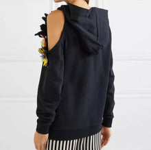 Load image into Gallery viewer, Sequin Flower Shoulder Hoodie