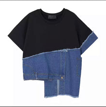 Load image into Gallery viewer, Short Sleeve Denim Top