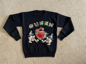 B. Fly Queen Sequin Embellished Sweater
