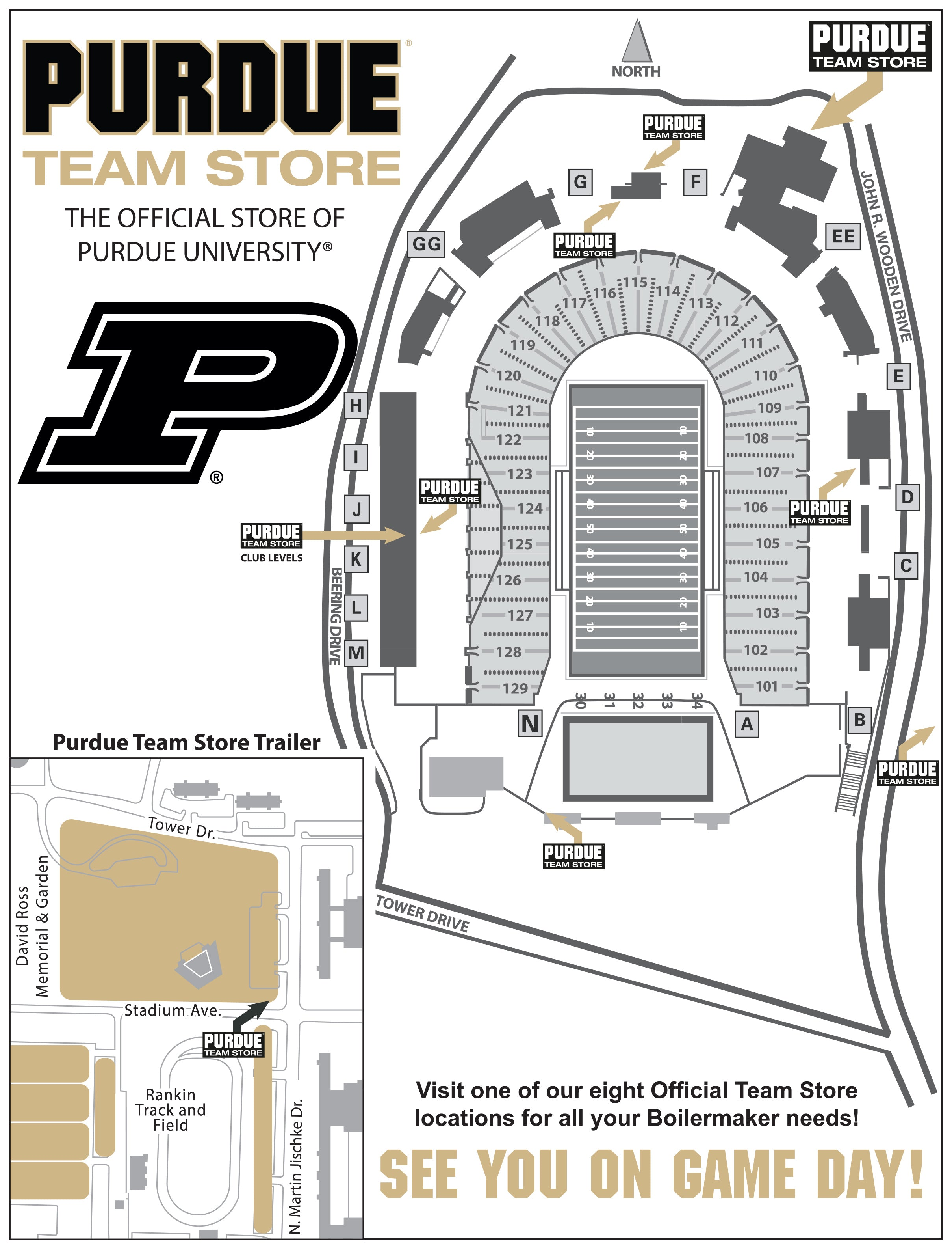 Map of Game Day Locations