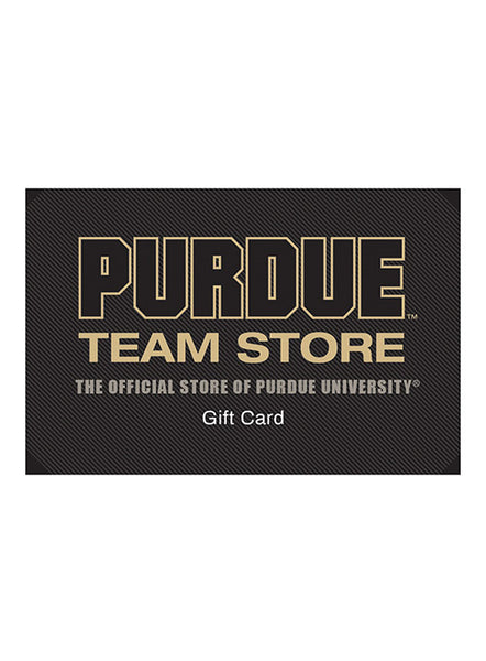 Purdue Team Store Gift Card, Click to See Larger Image