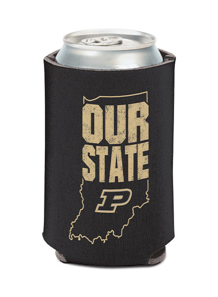 Purdue Our State Collapsible Can Cooler, Click to See Larger Image