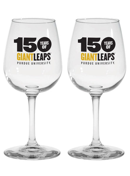 Purdue 150th Anniversary Wine Glass Set