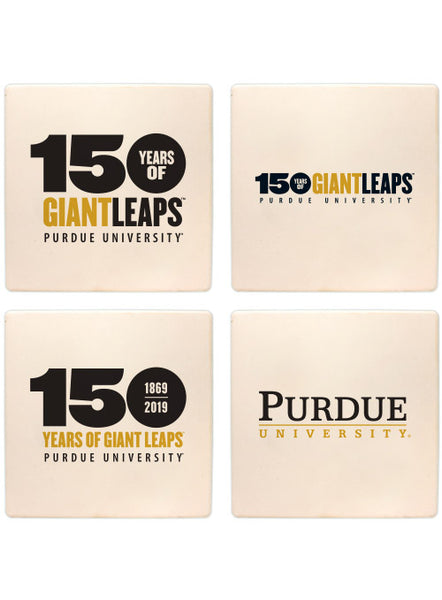 Purdue 150th Anniversary Stone Coaster Set