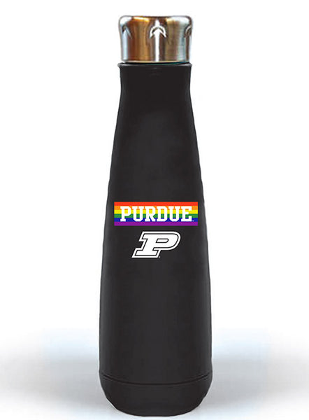 Purdue LGBTQ Pride Peristyle Water Bottle, Click to See Larger Image
