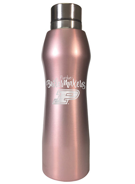 Purdue 20 Oz. Rose Gold Hydration Water Bottle, Click to See Larger Image