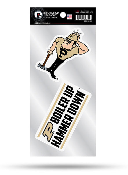 Purdue Die-Cut Sticker 2-Pack, Click to See Larger Image