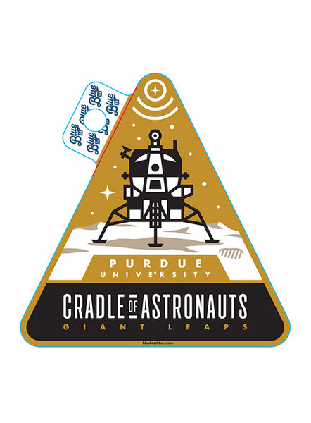 Purdue Apollo 11 Cradle of Astronauts Decal, Click to See Larger Image