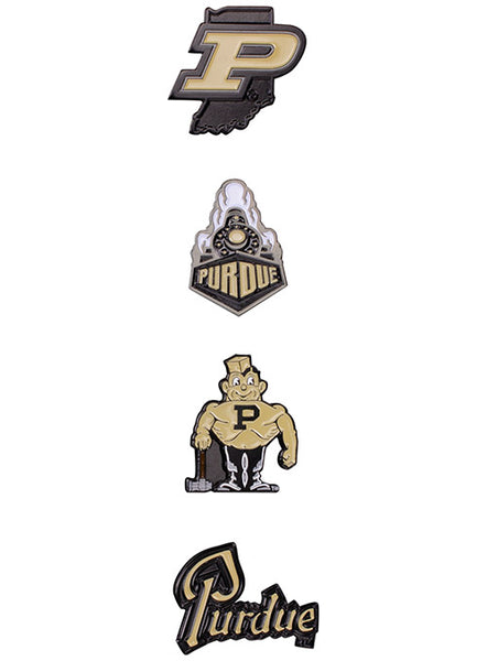 Purdue 4-Pack Hatpin Set, Click to See Larger Image