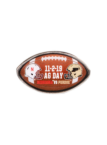 Purdue vs. Nebraska Gameday Hatpin, Click to See Larger Image