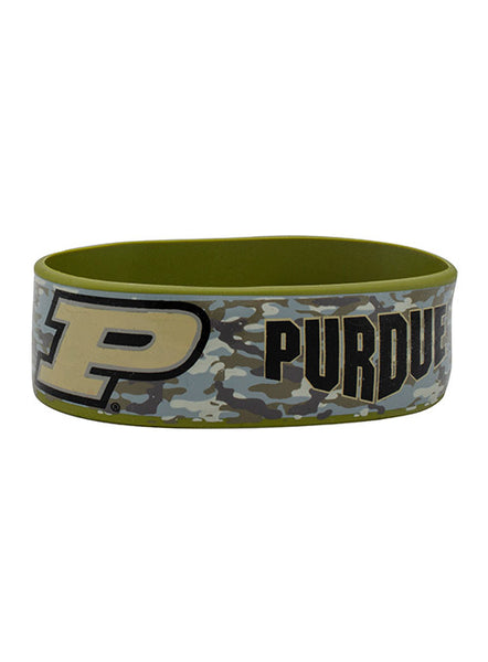 Purdue Camo Wristband, Click to See Larger Image