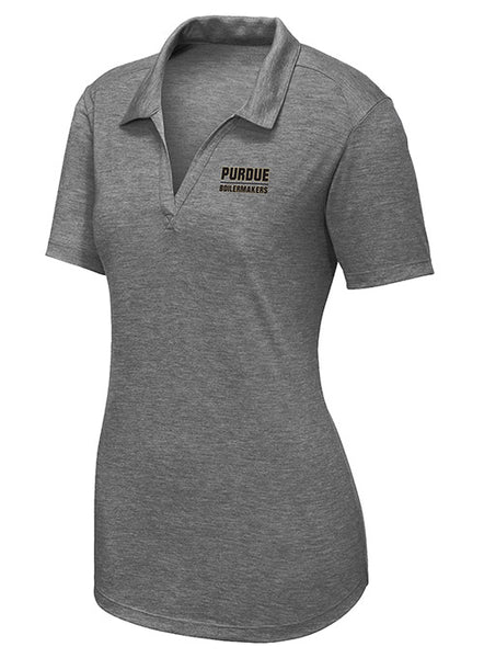 Ladies Purdue Tri-Blend Polo, Click to See Larger Image