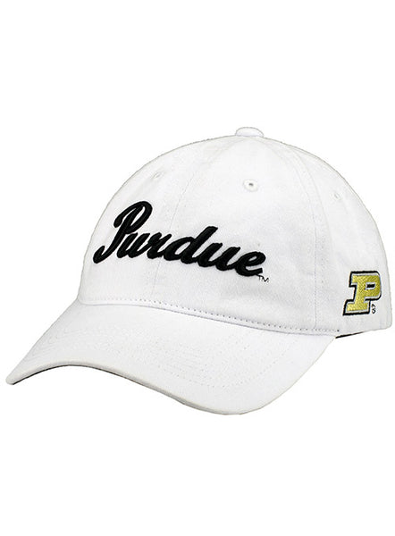 Ladies Purdue Script Unstructured Adjustable Hat, Click to See Larger Image