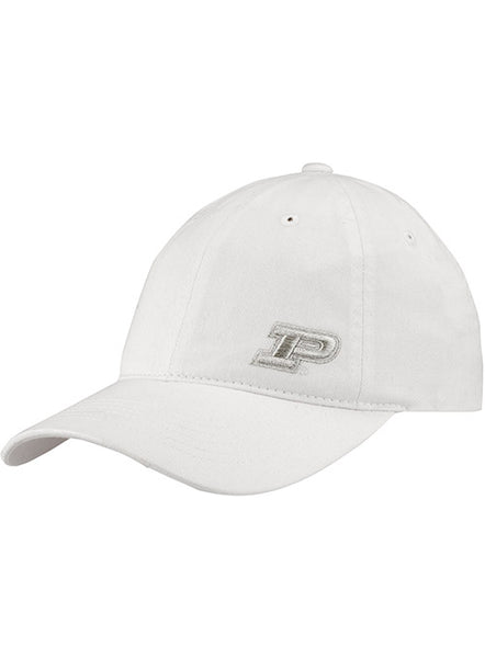 Ladies Purdue Metallic Logo Unstructured Adjustable Hat, Click to See Larger Image