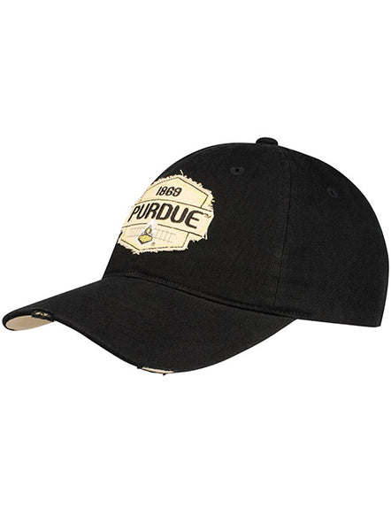 Ladies Purdue Frayed Patch Unstructured Adjustable Hat, Click to See Larger Image
