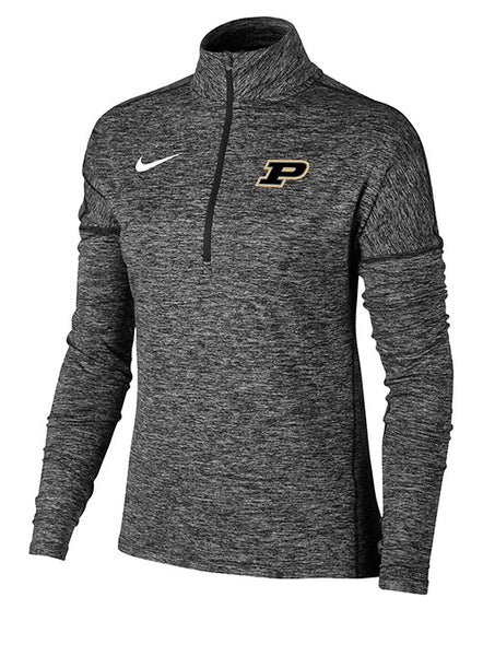 Ladies Purdue Nike 1/2 Zip Element Jacket