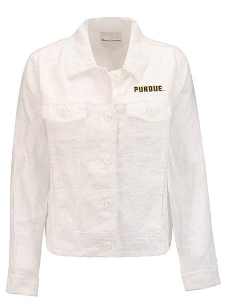 Ladies Purdue Tommy Bahama Two Palms Raw Edge Linen Jacket, Click to See Larger Image