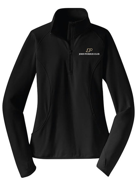 Ladies John Purdue Club 1/4 Zip, Click to See Larger Image