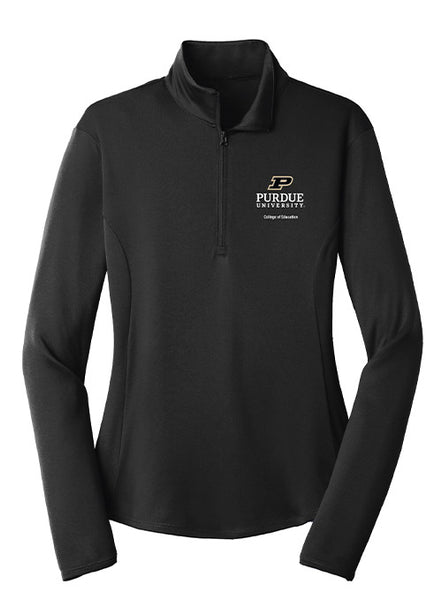 Ladies Purdue College of Education 1/4 Zip Jacket, Click to See Larger Image