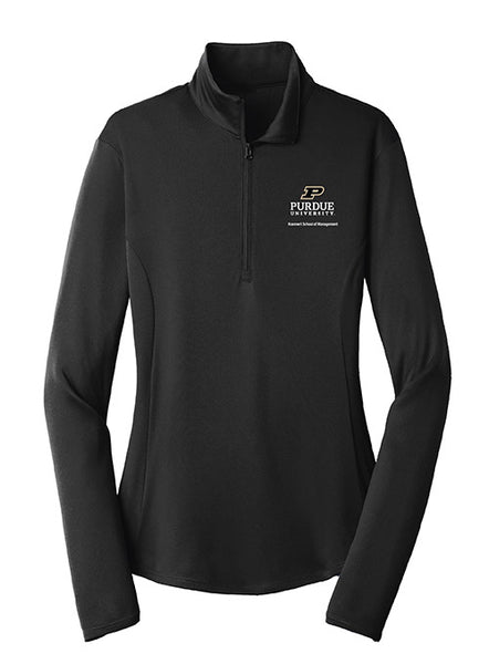 Ladies Purdue Krannert School of Management 1/4 Zip Jacket, Click to See Larger Image