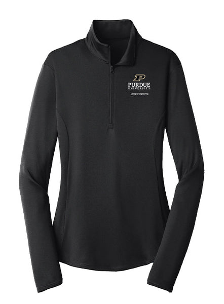 Ladies Purdue College of Engineering 1/4 Zip Jacket, Click to See Larger Image