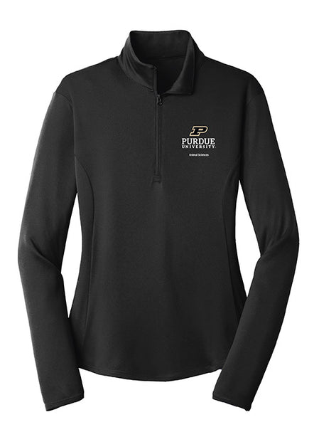 Ladies Purdue Animal Sciences 1/4 Zip Jacket, Click to See Larger Image
