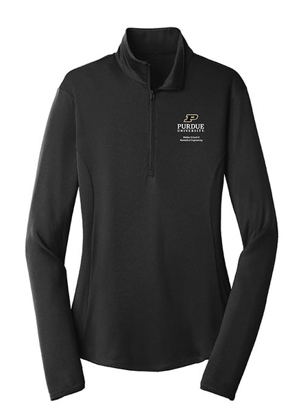Ladies Purdue Weldon School of Biomedical Engineering 1/4 Zip Jacket, Click to See Larger Image