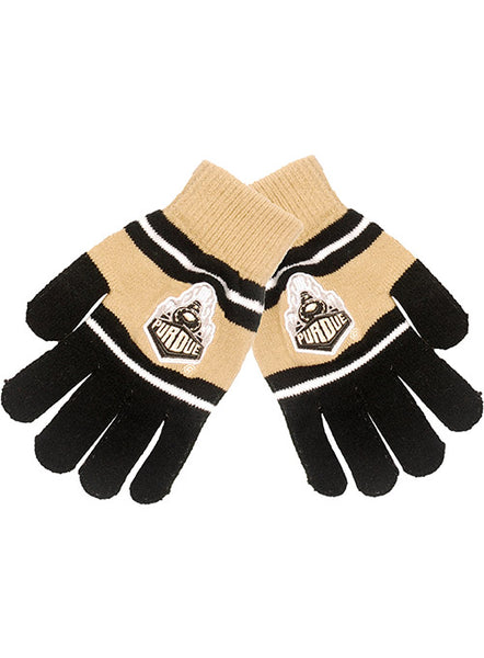 Purdue Stretch Knit Gloves, Click to See Larger Image