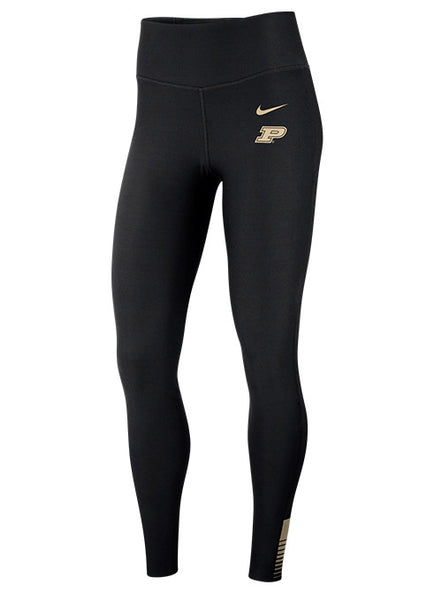Ladies Purdue Nike Power Sculpt Dri-FIT® High Rise Training Tights, Click to See Larger Image