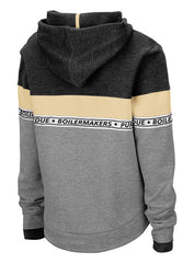 Ladies Purdue Color Block Hooded Sweatshirt