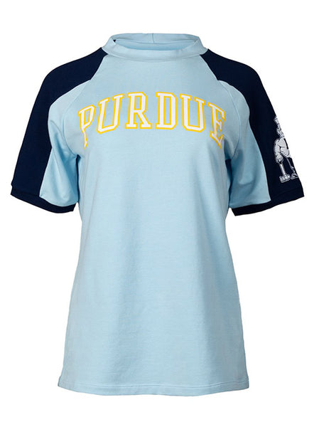 Ladies Purdue Crew Short Sleeve Sweatshirt, Click to See Larger Image