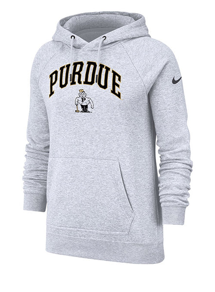 Ladies Purdue Nike Rally Hooded Sweatshirt, Click to See Larger Image