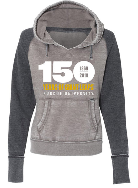 Ladies Purdue 150th Anniversary Zen Pullover Hooded Sweatshirt, Click to See Larger Image