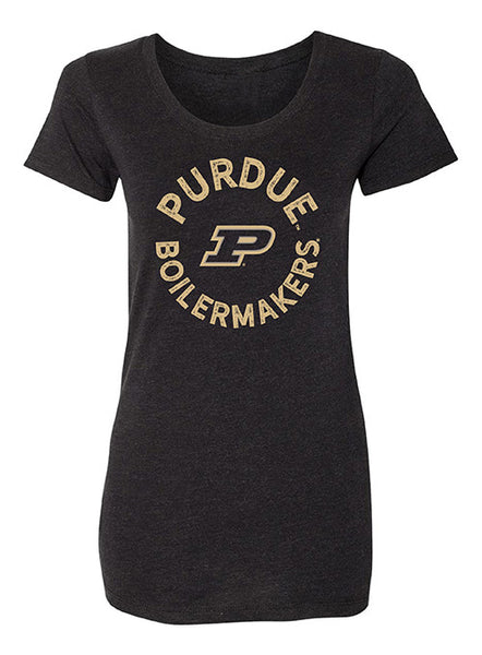 Ladies Purdue Tri-Blend T-Shirt, Click to See Larger Image