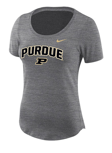 Ladies Purdue Nike Dry Slub Short Sleeve T-Shirt, Click to See Larger Image