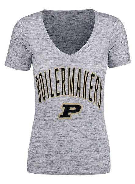 Ladies Purdue New Era Space Dye T-Shirt, Click to See Larger Image
