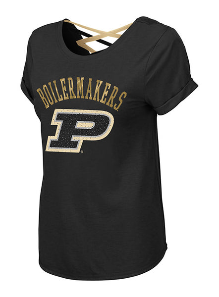 Ladies Purdue Milan Strappy T-Shirt, Click to See Larger Image