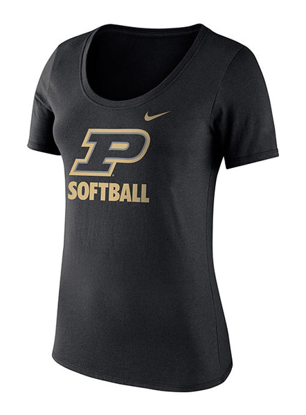 Ladies Purdue Nike Softball T-Shirt, Click to See Larger Image