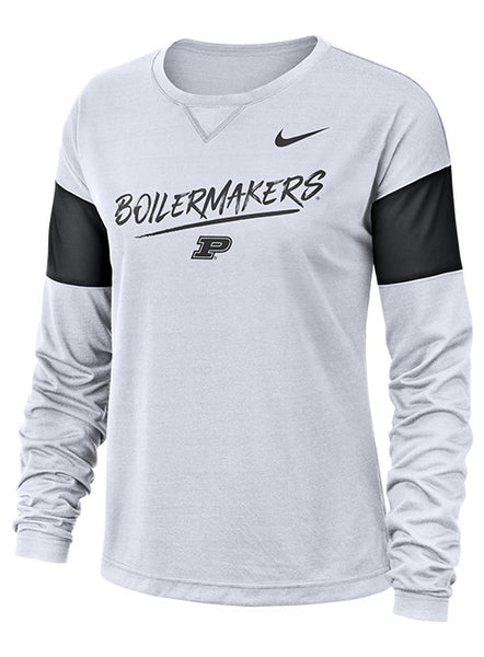 Ladies Purdue Nike Breathe Long Sleeve T-Shirt, Click to See Larger Image