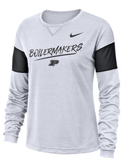 Ladies Purdue Nike Breathe Long Sleeve T-Shirt