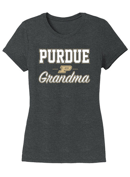Ladies Purdue Grandma Tri-Blend T-Shirt, Click to See Larger Image