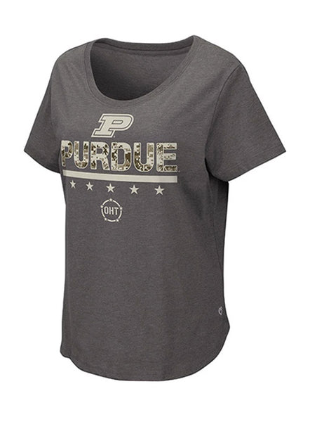 Ladies Purdue Operation Hat Trick T-Shirt, Click to See Larger Image