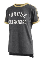 Ladies Purdue Melange Applique T-Shirt