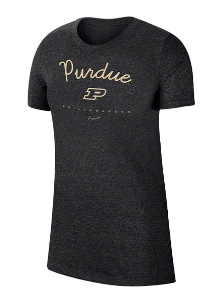 Ladies Purdue Nike Marled T-Shirt, Click to See Larger Image