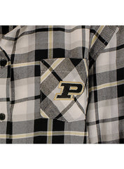 Ladies Purdue Boyfriend Plaid Woven Shirt