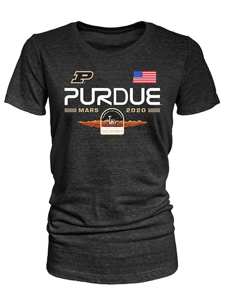 Ladies Purdue Mars Mission Rover Crest Tri-Blend T-Shirt, Click to See Larger Image