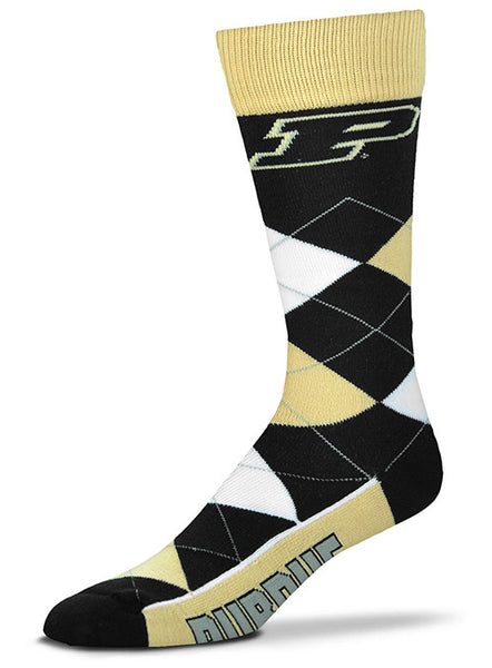 Purdue Argyle Socks, Click to See Larger Image
