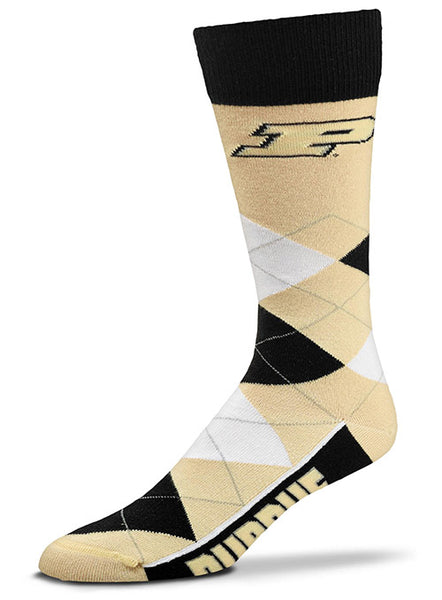 Purdue Argyle Sock, Click to See Larger Image