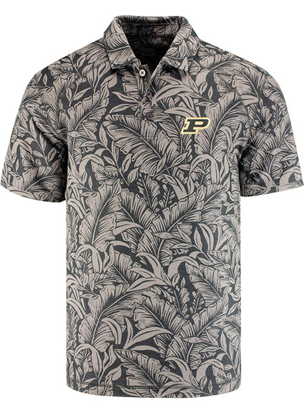 Purdue Tommy Bahama Leafbacker Polo, Click to See Larger Image