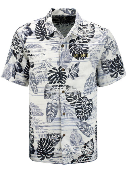 Purdue Tommy Bahama Super Fan Silk Camp Shirt, Click to See Larger Image